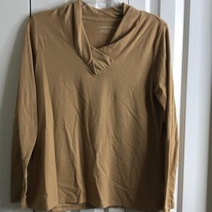 3/$15 Coldwater creek size M tan longsleeved top